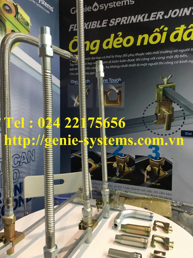 Ống mềm nối đầu phun sprinkler DN20 hãng Daejin áp lực 12bar - 1200mm.