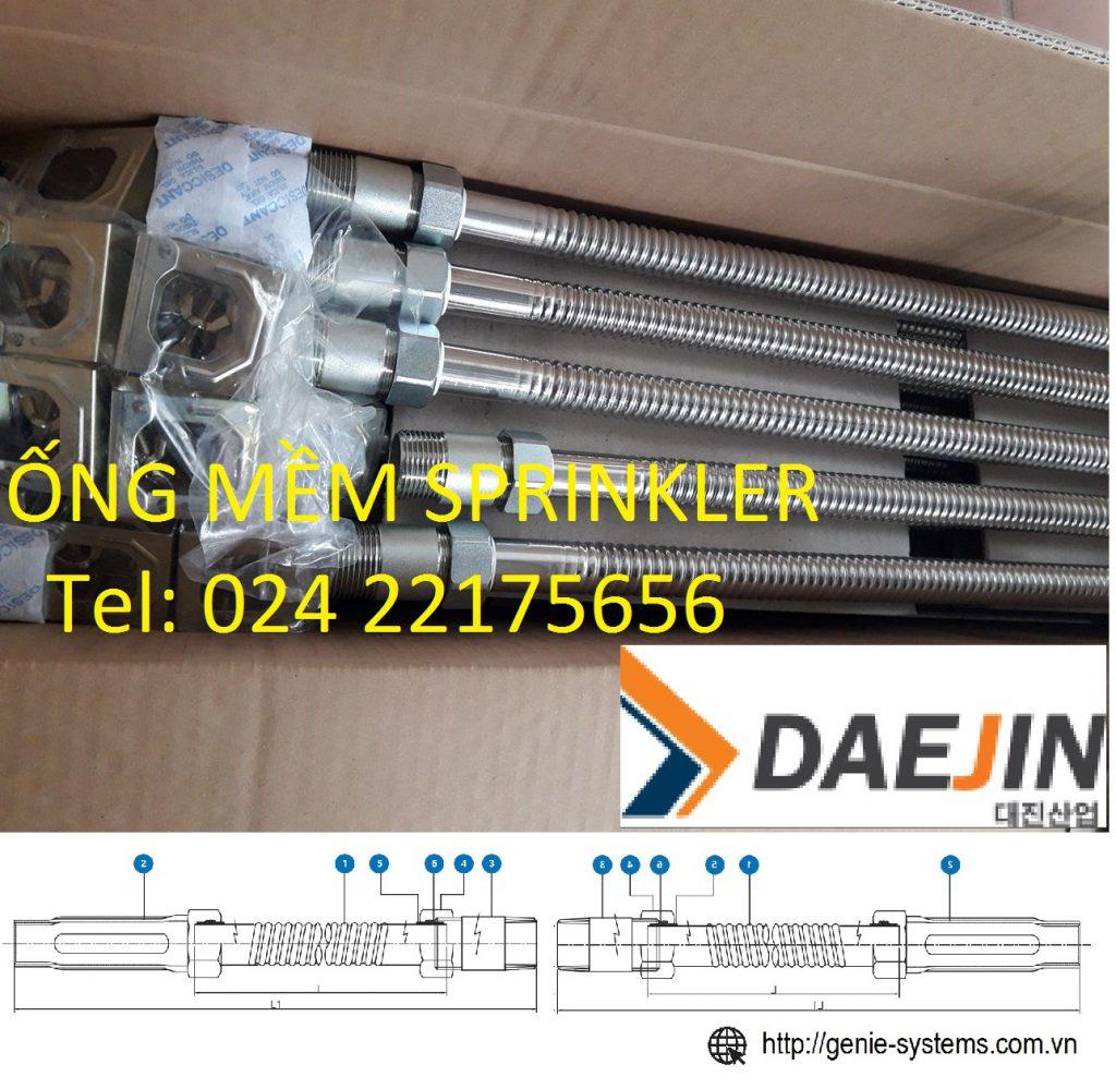 Ống mềm Daejin nhập khẩu hàn quốc dài 1000mm áp lực 175psi đủ bộ