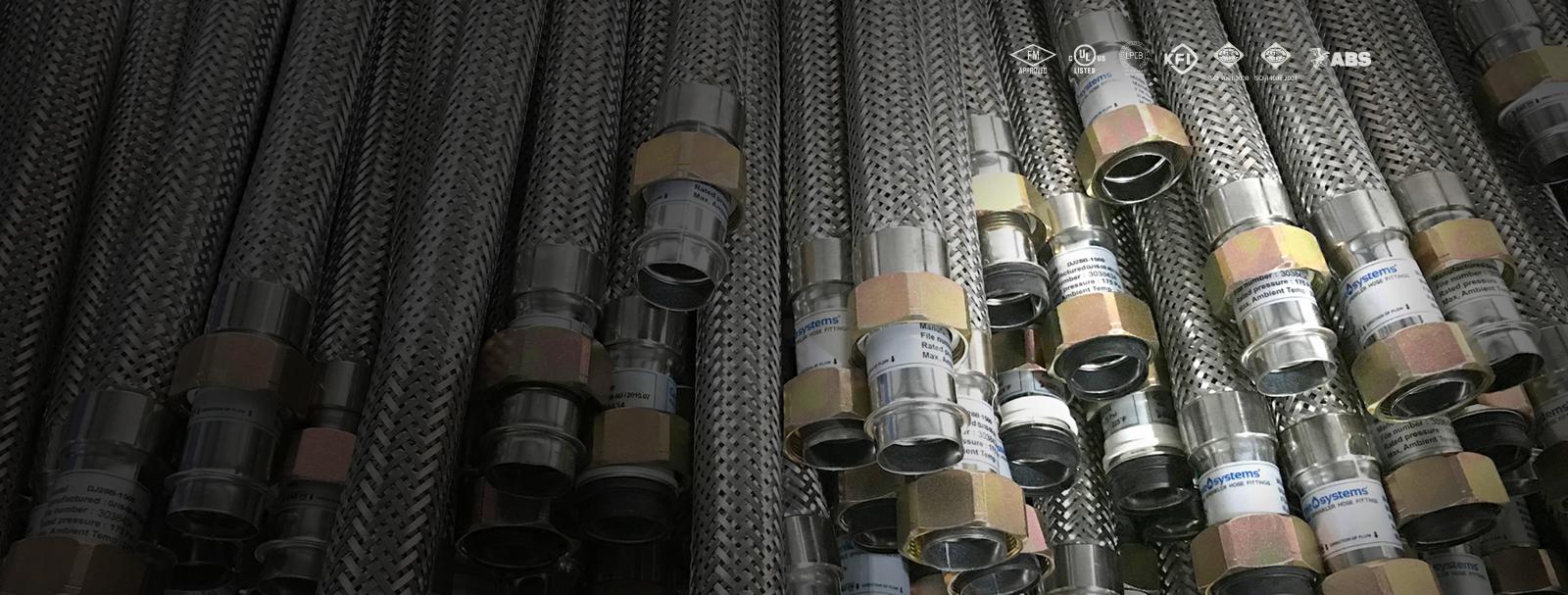 Lắp đặt Ống mềm nối đầu phun sprinkler DJ25UB-1000