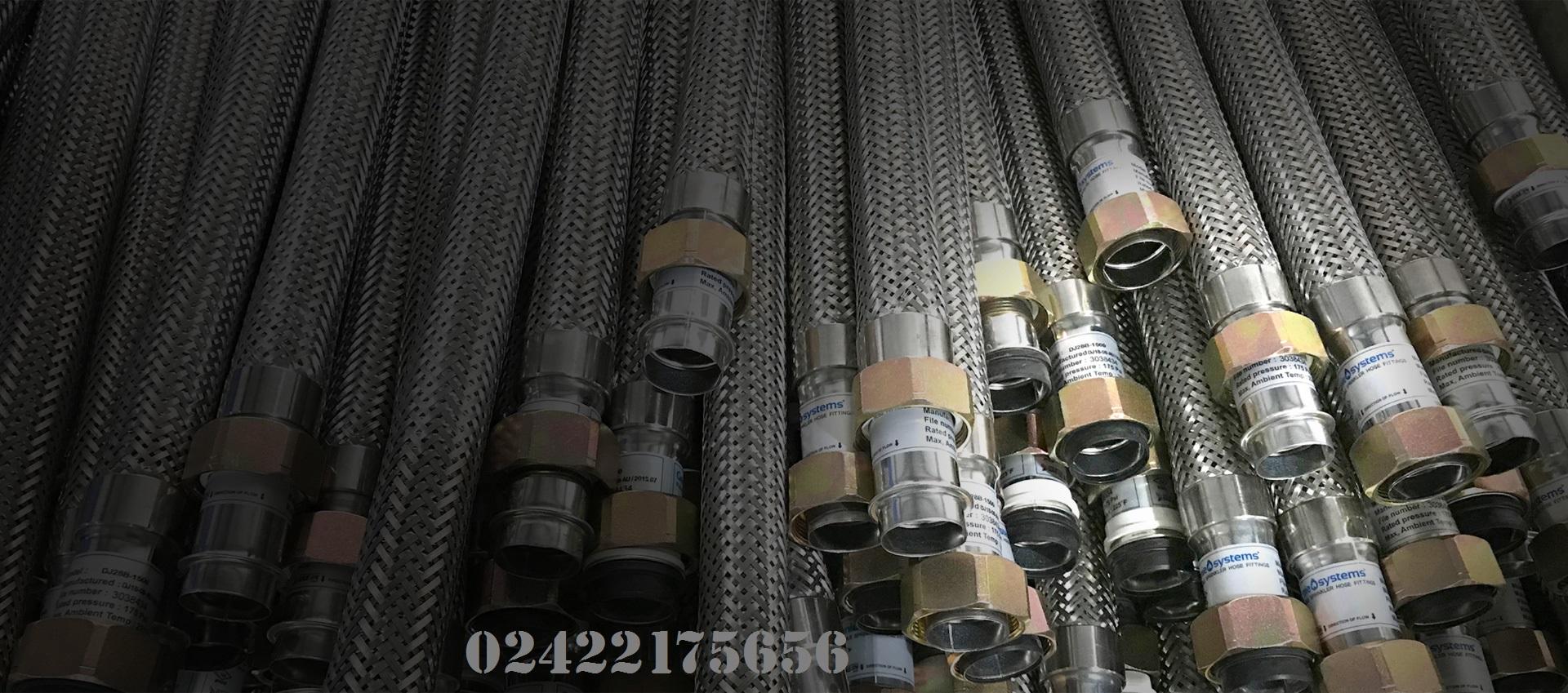 """Dây mềm Inox 1"""" nối sprinkler 3/4"""", 1000mm, 200psi, UL- Daejin"""
