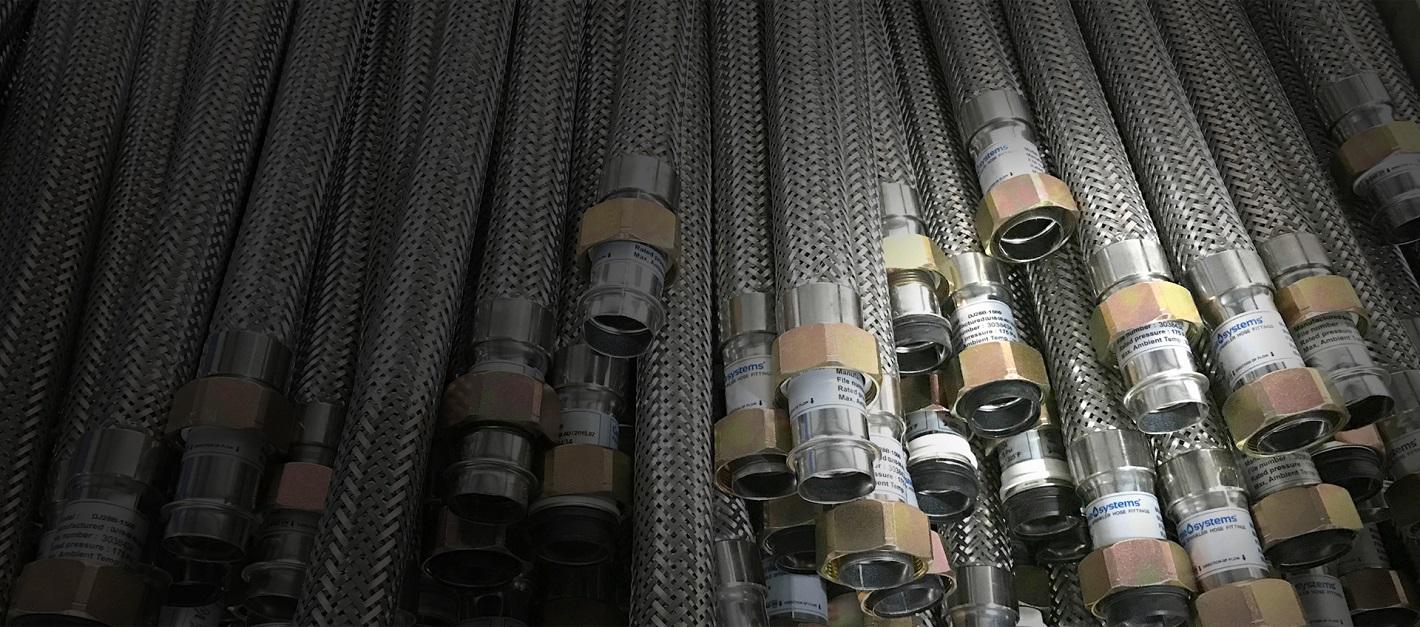 Flexible Sprinkler Hose DN25 Braid type 700mm DJ28B-700 200psi (FM).