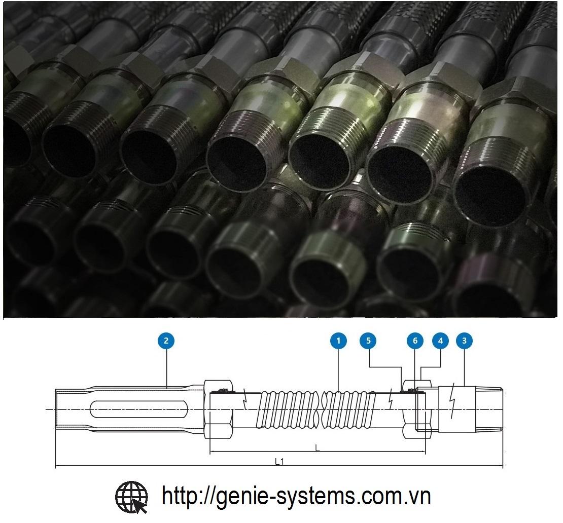 Flexible Sprinkler Hose 1200mm 15A 175psi